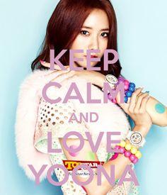Keep calm and love Yoona ❤ Yoona Snsd, Sooyoung, Im Yoon Ah, Kwon Yuri, Jessica Jung, Keep Calm And Love, Girls Generation, Kpop