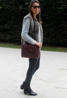 Zara  Chalecos, Zara  Botines and Zara  Bolsos