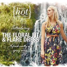 What's Hot this week - The Floral Fit & Flare Dress #dresses #spring