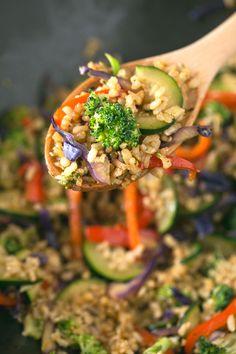 Brown rice stir fry   simpleveganblog.com #vegan #glutenfree