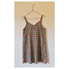 CLASSIC BURBERRY-ESQUE SLIP DRESS – Love Too True