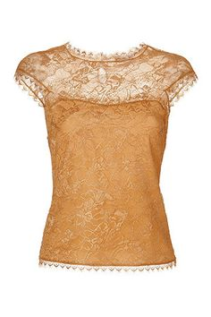 Lace Top in Ochre - It's beautiful...but I don't think I can afford the $1,665.00 price tag!  :-(