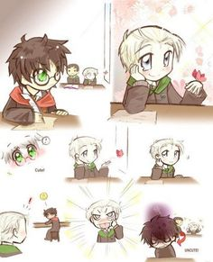Immagine di drarry, draco malfoy, and harry potter Draco Harry Potter, Harry Potter Anime, Memes Do Harry Potter, Arte Do Harry Potter, Harry Potter Comics, Images Harry Potter, Yer A Wizard Harry, Harry Potter Ships, Harry Potter Characters