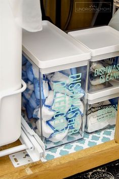 Under the Sink organization ideas - great ideas from this realistic before and after! Love those acrylic drawers and vinyl labels! #underthesink #organization #kitchenorganization #organizationideas #undersinkorganization #Kitchens