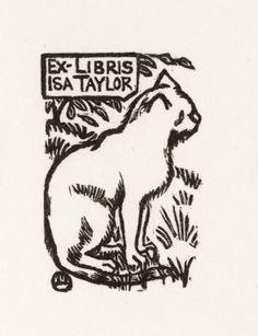 Ex libris by Lucien Pissarro (1863‑1944)  and Esther Pissarro (1870‑1951) - c.1892