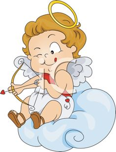 iCLIPART - Clipart Illustration of a Baby Cupid Preparing to Shoot