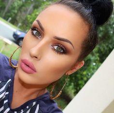 love her makeup looks- @Karrenjadexx on insta modeling anastasia beverly hills liquid lipstick in Lovely