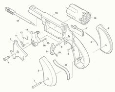 North American Arms Parts - Exploded View for Short