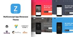 ZurApp - Multipurpose App & SaaS Showcase Wordpress Theme by 8guild          Zur App ¨C Multipurpose App & SaaS Showcase Wordpress ThemeMulti-concept means 4 skins to choose from. And it is