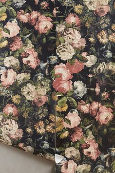Nightrose Wallpaper #anthropologie you can do so much with this wallpaper get creative!