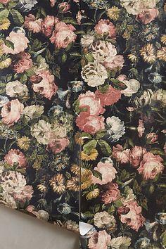 Nightrose Wallpaper #anthropologie