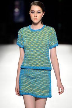 High fashion #crochet from designer Helen Rodel