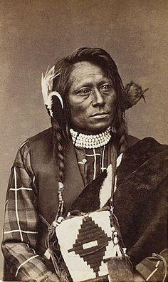 Ute Medicine Man c1872 (Antique photo of Native American)