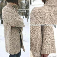Ravelry: Oydis Sweater pattern by Linda Marveng Cable Knitting, Knitting Stitches, Knitting Designs, Knitting Projects, Sweater Coats, Sweaters, Knit Fashion, Knitwear, Knitting Patterns