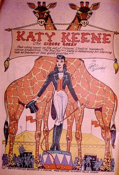 Katy Keene Circus Pin-up by Pennelainer, via Flickr* 1500 free paper dolls at Arielle Gabriels International Paper Doll Society also free paper dolls at The China Adventures of Arielle Gabriel *
