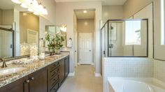 With a Kingston floor plan, you will feel like a #moviestar getting ready in this luxurious #master #bathroom.  #dreamhome