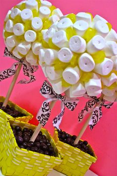 Jackie Sorkin's Fabulously Fun Candy Girls, Candy World, Candy Buffets & Event Industry Bl: MAZEL!!!! Audrey's Yellow, Black & White Damask Mitzvah! Candy Centerpieces, Custom Chocolate Bars & Candy Station