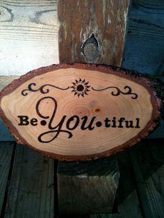 BeYoutiful Sun and Swirls wood burnt sign the by BlueMarket, $85.00
