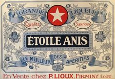 Original French Poster, c. 1910, Etoile Anis (23.5 x 26 inches)