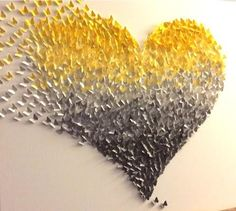 3D Butterfly Wall Art , Yellow and Grey Ombre Classic Butterfly Heart Bring your home to life with this 3D canvas art. As this whimsical butterfly