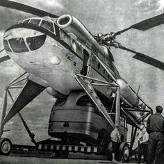 V-10 (Mi-10 variant), soviet heavy lift helicopter, skycrane, 1970's. The Mil…