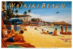 Waikiki Beach Posters by Kerne Erickson at AllPosters.com