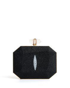 Marchesa Iris Stingray Box Bolso sin asas, Negro