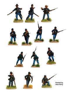 ACW 115 American Civil War Union Infantry 1861-65, Perry Miniatures