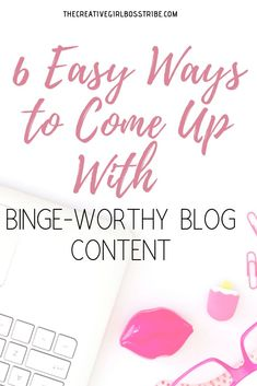 Struggling to come up with blog content that your audience actually wants to read? I'm breaking down the six easiest ways to come up with binge-worthy blog content that you're audience will love. Blog Writing Tips, Good Paying Jobs, Becoming A Blogger, Create Your Own Business, Blog Logo, Typographic Logo, Blogger Tips, Business Inspiration, Creating A Blog