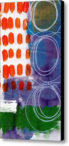 Concerto One - Abstract Art Canvas Print / Canvas Art By Linda Woods