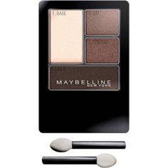 Maybelline New York Expert Wear Eyeshadow Quads, Natural Smokes, 0.17 oz