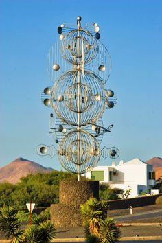 Wind sculpture by Cesar Manrique, Tahiche, Lanzarote, Canary Islands