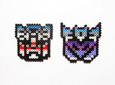 Transformers Autobot and Decepticon perler sprites by ShowMeYourBits