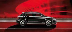 Paintwork: Phantom Black pearl effect. Wheel: Cast aluminium wheel in V design. Audi A1 Sportback, Aluminum Wheels, Small Cars, Side View, Pearls, Black, Design, Motorbikes, Head Start