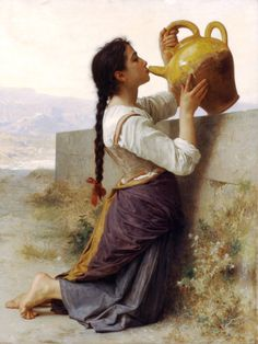 La soif Realism William Adolphe Bouguereau art for sale at Toperfect gallery. Buy the La soif Realism William Adolphe Bouguereau oil painting in Factory Price. All Paintings are Satisfaction Guaranteed William Adolphe Bouguereau, Munier, Pre Raphaelite, Fine Art, Oeuvre D'art, Les Oeuvres, Just In Case, Illustration, Art Gallery
