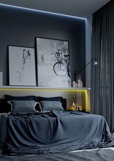 masculine bedroom design #MasculineBedding
