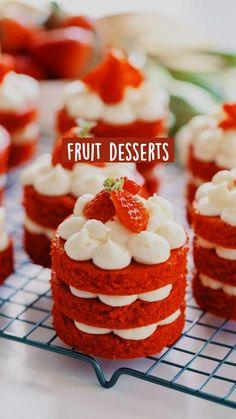 Mini Desserts, Elegant Desserts, Easy Desserts, Lemon Desserts, Italian Desserts, Finger Food Desserts, Mini Dessert Recipes, Elegant Cakes, Mini Cakes