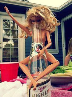 Party Girl Barbie! #slut #barbie #drunk