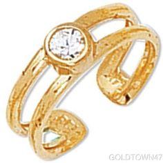 Toe Ring in Yellow Gold Shiny Cuff Type Gold Toe Rings, Bracelet Watch, Type, Yellow, Bracelets, Accessories, Bracelet, Arm Bracelets, Bangle