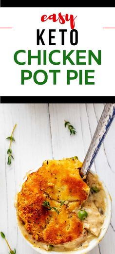 I really want to try new low carb casserole recipes and this Keto Chicken Pot Pie looks so good! I can't wait to cook this easy meal for my family. It looks like the perfect keto dinner recipe. SO PINNING! #kickingcarbs #lowcarb #keto #lchf #ketorecipes #chickenpotpie Low Carb Chicken Casserole, Low Carb Chicken Recipes, Keto Chicken, Casserole Recipes, Cooking Chicken To Shred, Cooking Turkey, Low Carb Casseroles, Pot Pie, Pasta Substitute