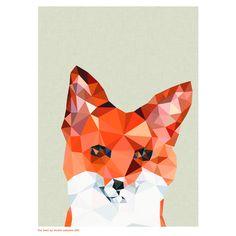 Print Fox Head A4 – Shut the Front Door! online