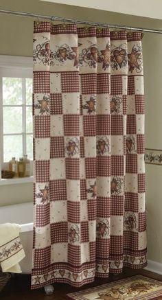 Primitive shower curtain   decor   Pinterest   Primitives, Bath ...