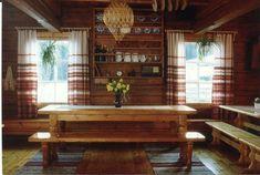 tupa / old livingroom/family room. Swedish Home Decor, Swedish Interiors, Scandinavian Home, Norwegian House, Swedish House, Simply Home, Dinning Room Tables, Family Room Design, Log Homes