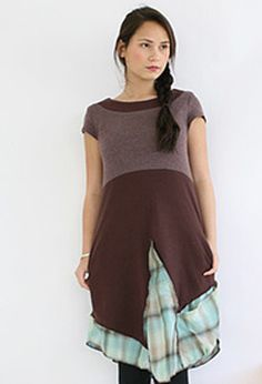 Asymetrical hemline/pocket dress by Rebe