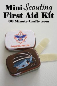 Mini Scouting First Aid Kit - a perfect craft for Cub Scouts or Girl Scouts - easy to make and super useful! Mini Scouting First Aid Kit - a perfect craft for Cub Scouts or Girl Scouts - easy to make and super useful! Boy Scout Troop, Scout Mom, Girl Scout Badges, Girl Scout Swap, Girl Scout Leader, Daisy Girl Scouts, Brownie Girl Scouts, Cub Scouts Wolf, Beaver Scouts