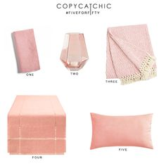 Blush color favorite picks  for under $50 from @worldmarket and @copycatchic…