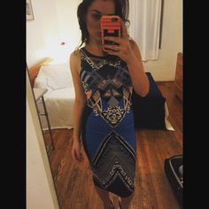 Tribal Print Midi Bodycon Dress Bought at a boutique in Atlanta. Beautiful tribal print Bodycon midi dress Fabrik Dresses Midi