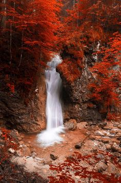RED WATERFALL by Gerd Pfluegler on 500px