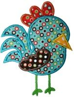 I have this design to put on things. Rooster Applique Design