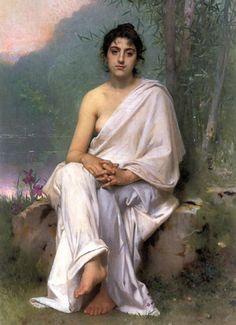 """Leon Jean Basile Perrault  - """"Meditation"""" -1893"""